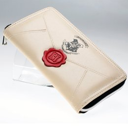 Wholesale Party Pillow - Harry Potter Letter Zip Around Wallet pu Long Fashion Women Wallets Designer Brand Purse Lady Party Wallet Female Card Holder