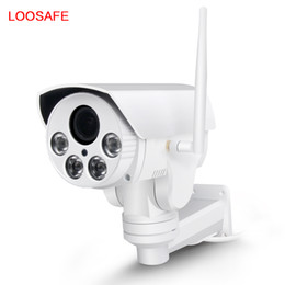 Wholesale Wifi Network Camera Ptz - loosafe HD 1080P 4X Zoom PTZ Rotation Surveillance Bullet Camera Intelligent Network Monitor Wireless Wifi Outdoor Security PTZ Camera