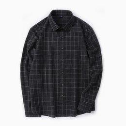 Wholesale Lapel Plaid Shirt - Long Sleeved Shirt Lapel Casual Plaid Cotton Loose All-match New Men's Shirt