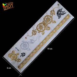 Wholesale Tattoo Stickers Brands - Wholesale- Wholesale fashion brand new necklace bracelets tatoo metal silver golden flower butterfly temporary tattoos Sticker for adults