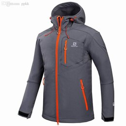 Wholesale Men S Windstopper Jacket - Wholesale-2016 Windstopper Softshell Outdoor Mens Waterproof Hiking Jackets For Mountain Camping Ski Hunting Clothes Rain Jacket