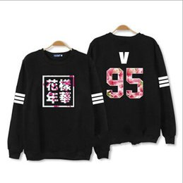 Wholesale Baseball Hoodie For Women - Kpop bts hoodies for men women bangtan boys album floral letter printed fans supportive o neck sweatshirt plus size tracksuits