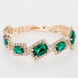 Wholesale New Articles - New Fashion Charm Bracelets & Bangles wholesale Crystal Bracelets best sell for women Jewelry gift The bride adorn article