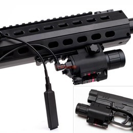 Wholesale Glock Tactical Laser - Tactical Green Laser Sight Scope CREE Q5 LED Flashlight Combo Picatinny Mount Glock 17 19 22 20 23 31