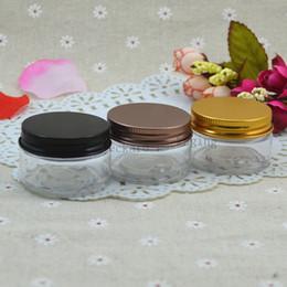 Pot en aluminium cosmétique en gros en Ligne-30g En Aluminium Cosmetic Jar Container Plaqué Cap Vis Filetage 50pcs / lot 30ml Maquillage Conteneur Usine En Gros Livraison Gratuite