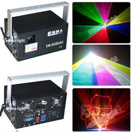 Wholesale Ilda Rgb - Wholesale- Chrismas 2w RGB laser 3D graphics projector ILDA DMX dance bar Xmas Party Disco DJ effect Light stage Lights Show system