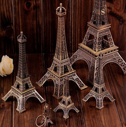 Wholesale Decoration Paris - Vintage Design Decoration Used For Camera Props Paris Eiffel Tower Metallic Model Prop Fashion Home Furnishing Ornaments New 79wy A