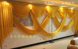Wholesale Green Black Background - 6m wide swags valance wedding stylist backdrop Party drop Curtain Celebration Stage Performance Background
