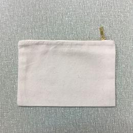 Wholesale large black evening bag - Natural Canvas Zipper Pouch canvas clutch purse blank cotton cosmetic organizer evening bag black large makeup bag