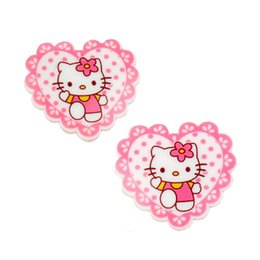 Wholesale Hair Bow Resin Flatback - 30Pcs Kawaii Heart with Hairbow Kitty Cat Resin Planar Flatback Cabochons DIY Kids Girls Hair Bow Center Craft Decoden Jewelry GIFT