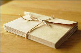 Wholesale Vintage Greetings Cards - 100PCS LOT 16.5x11cm Kraft Square blank Vintage Envelope for Wax Seal  Greeting Card   Storage Paper Envelopes