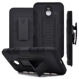 Wholesale Iphone Hard Gel Case - 3 in 1 Armor Hybrid Hard Case Armor Case Rugged Gel Protector For iPhone 6 6S Plus 7 Plus Phone Cases Kickstand Cover Capa