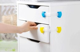 Wholesale Drawer Protection - Baby Safety Plastic Lock Child Kids Cabinet Door Drawers Refrigerator Toilet Safety Locks Baby Protection montre femme