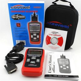 Wholesale Audi Computer Scanner - KW807 OBD2 OBDII LCD Car Code Scan Tool AUTO Automotive Truck Diagnostic Tool Computer Vehicle Fault Reader Scanner