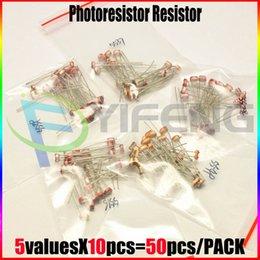 Wholesale Resistor Assortment Kit - Wholesale- 50pcs NEW and original 5values X10PCS 5516 5528 5537 5539 5549 Photo Light Sensitive Resistor Photoresistor Assortment Kit Set