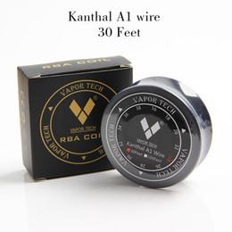 Wholesale A1 Vapors - DHL free Vapor Tech Kanth A1 Wire 30 Feet Resistance Wire KA1 grade 1 AWG 24g 26g 28g Gauge Coil