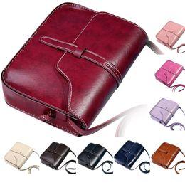 Wholesale Wholesale Messenger Bag Purses - Wholesale- Vintage Purse Bag Leather Cross Body Shoulder women messenger bags Bag designer handbags high quality women bag 2016 Nov.