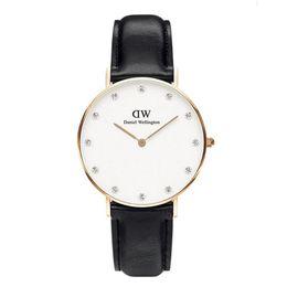 Wholesale Elegant Leather Watch - 2017 Famous Brand Watches Women Fashion Slim Quartz Watch Female Elegant Dress Watch Relogio Feminino Clock Montre Femme