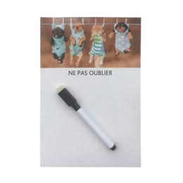 Wholesale Magnetic Board Fridge - magnetic fridge magnets cute dogs printed Dry Erase Flexible Magnetic Whiteboard Message board Memo Pad Dialog Box Fridge Magnets