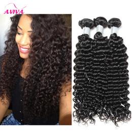 Wholesale Unprocessed Virgin Hair Wholesale Curly - Unprocessed Brazilian Curly Virgin Hair Weaves Bundles Peruvian Malaysian Indian Cambodian Mongolian Deep Curly Wave Human Hair Extensions