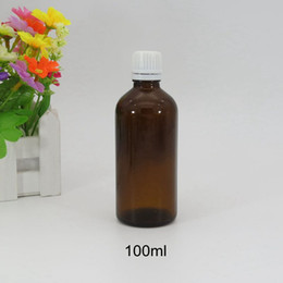 Wholesale Brown Glass Bottles Droppers - Wholesale- hot sale 10pcs lot glass dropper bottles 100 ml glass bottle copper bottle amber glass essential oil cosmetic brown bottles