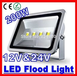 Wholesale Flood Homes - Wholesale- 2 Pieces Lot 200W LED Flood light 12V 24V Warm White Cool White Waterproof Spotlight Projection lamp Home Garden solar Light
