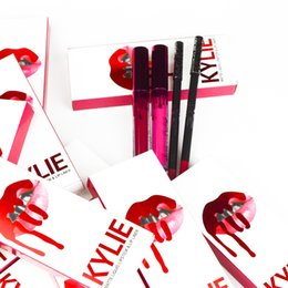 Wholesale Valentine Packages - TOP KYLIE JENNER Comestics With 2 Colors HEAD OVER HEELS VALENTINE With 2pcs Package Free Shipping