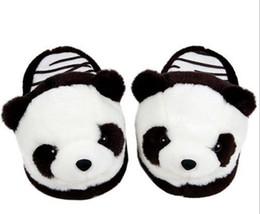 Wholesale Women S Sandals Slippers - Cute Panda Slippers Plush Slipper Men Nice Women€s Slippers Indoor Home Flip Flop Sandals Warm Moccasins Soft Flip Flop Velvet Fas