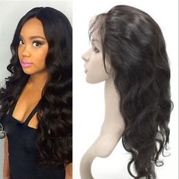 pelo de la onda del cuerpo de 14 pulgadas Rebajas 22.5x4x2 pulgadas 360 frontal con cabello natural parte libre color natural 100% cabello humano cuerpo brasileño cierre de onda G-EASY