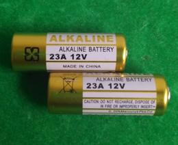 Wholesale 12v 23a Battery - One lot=500pcs 6V 4LR44 and 200pcs 12V 23A A23 MS21 MN21,V23GA, LR23 L1028 Alkaline battery for wireless door bell remote control