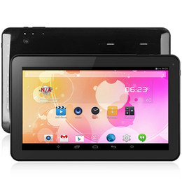Wholesale Quad Core Tablets - 10.1 inch A33 Android 4.4 Tablet PC All Winner A33 Quad Core 1.3GHz WSVGA Screen Cameras 8GB ROM