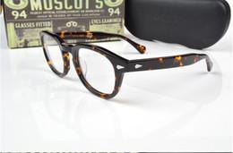Moscot lemtosh lunettes johnny depp lunettes top Qualité marque ronde lunettes cadre avec flèche Rivet 1915 livraison gratuite ? partir de fabricateur