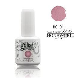 Wholesale Gel Uv Led Clear - Honeygirl Gelish Nail Polish Color Soak Off Clear Nail Gel LED UV nail art Gel Polish TOP it off and Foundation frence nails