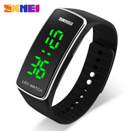Wholesale Trendy Led Watches - 2016 New Trendy Sports Watches Women Digital Watch Fashion Brand bracelet Relojes Mujer Ladies LED Display Wrist Watches