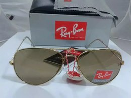 Wholesale Reflect Free - 2017 RAY 3025 BANS 58MM Polarized reflect lens Fashion Sunglasses Men and Women Brand designer Vintage Sport Sun glasses With case free