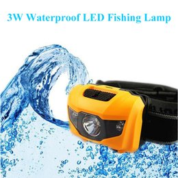 2019 cargador de linterna cree q5 Lámpara de pesca LED de 3W Luz blanca + luz roja Luz LED impermeable ultraligera para caminar Pesca Acampar al aire libre Montañismo