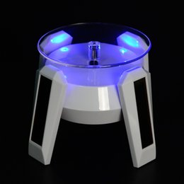 Wholesale Table Tablet Pc - Solar Powered Rotating Display for Phone Tablet PC  Jewlery Necklaces Rings Earrings Stand Stand Turn Table with LED Light