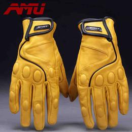 électrique réel Promotion Vente en gros- Guantes AMU Fashion Glove gants de baseball en cuir véritable moto vélo électrique mitaines gants