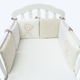 Wholesale Cribs Sales - Hot Sale 6Pcs Lot Baby Bed Bumper in the Crib Cot Bumper Baby Bed Protector Crib Bumper Newborns Toddler Bed Bedding Sets VT0472