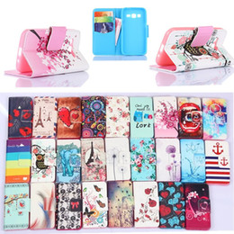 Wholesale Flip Side - Fashion Magnetic Stand Holder Side Flip PU Leather Wallet Cover for Iphone 6 6s plus 7 7 plus Samsung S6 S7 S7 Edge