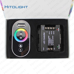 Wholesale Rf Dimmer Switch - HITOLIGHT 18A Full Color Touch Controller RF Wireness Dimmer Switch for RGB LED Strip 5050,2835 DC12-24V Iron Shell Free Shipping