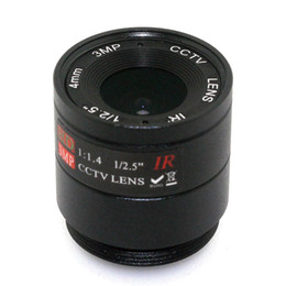 Wholesale Cctv 16mm - 3MP 4mm 6mm 8mm 12mm 16mm CS Lens 1 2.5'' F1.4 CS Fixed IR 3.0 Megapixel CCTV Lens For IR 720P 1080P CCTV Security Camera
