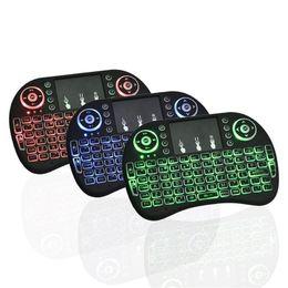 Красочные коврики для мыши онлайн-Rii I8 Fly Air Mouse 2.4 G красочная подсветка Подсветка беспроводная сенсорная панель клавиатура многофункциональный для ПК Pad Android TV Box MXQ Pro X96