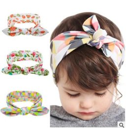 Wholesale Knotted Turban Style Headbands - Infant Hairband Kids Owl Baby Girls Dots Turban Knot Rabbit EarToddler Headband Headwrap Newborn Hair Band Accessories 18 Styles