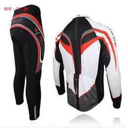 Wholesale Long Sleeve Padded Shirts - 2015 Professional arsuxeo mens cycling clothing bike sets bicycle long sleeves jersey shirts pants wear suits uniforms top .3D BIB PADDED C