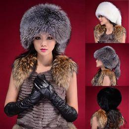 Wholesale earflap beanie women - Wholesale-Women Lady Warm Winter Tail Beanie Beret Cap Womens Faux Fur Ear Earflap Hat