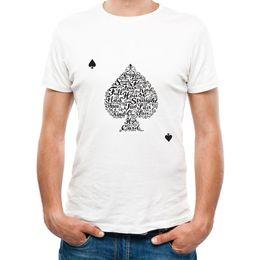 Wholesale Poker T Shirts - Camping T-Shirts Men's T-shirts Clothing Men Creative Design Poker T Shirt Summer Men Novelty Short Sleeve Tee Tops free shipping