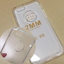 Wholesale Iphone 5s Clear Soft Case - Transparent TPU phone case 2mm Clear soft Cases Back Cover for iPhone X 6 6 plus 5 5S 7 samsung s7 edge s8