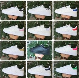 Wholesale New Women Brand Fashion Spring - FAST shipping brand new stan shoes fashion smith sneakers casual leather men women sport running shoes jogging sneakers classic flats