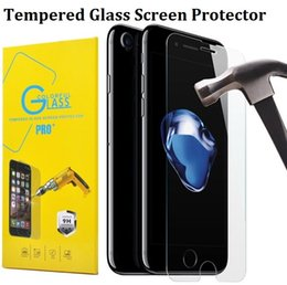 Wholesale Moq Screen Protector - For Iphone 7 Plus Tempered Glass Film Guard Screen Protector For iPhone 6 6S SE 5S 5C Samsung Galaxy S7 S6 Edge LG G6 0.26mm 2.5D MOQ:10pcs